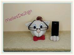 Häkelanleitungen - Katze Brillenhalter und Handyhalter-Häkelanleitung - ein Designerstück von MellesDeZign bei DaWanda