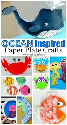 Under the Sea Paper Plate Crafts for Kids - These Paper Plate Crafts for Preschoolers are the perfect Summer Craft. Dive deep into the Ocean and explore what is Under the Sea with these fabulous ideas! (spring crafts for kids paper plate) Paper Plate Art, Paper Plate Fish, Paper Plate Crafts For Kids, Summer Crafts For Kids, Art For Kids, Paper Crafts, Art Crafts, Summer Crafts For Preschoolers, Spring Crafts