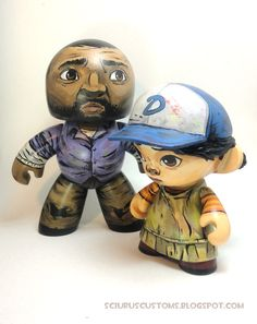 Adorable Lee and Clementine figures from Sciurius Customs