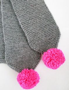 maker*land.: Easy kids' pom pom scarf