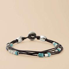 FOSSIL® Jewelry Bracelets:Women Dainty Turquoise Bracelet JA4500