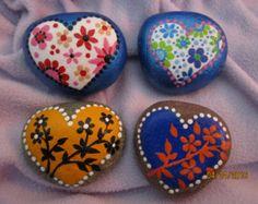 Hand Painted Moth Rock Painted Rocks by PetRocksbyTheresa