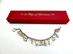 Twelve Days Of Christmas Sterling Charm Bracelet 12 Days Charms by ediesbest on Etsy