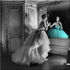 amazing photography :: black and white colorful blue dress fancy color splash zag7734 image by zag7734 - Photobucket