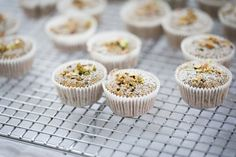 Brown Butter Pistachio and Poppy Seed Financiers