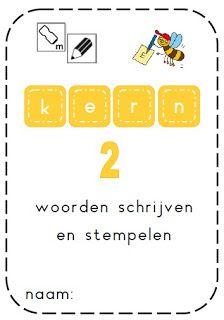 Boekje: woorden schrijven en stempelen - Kern 2