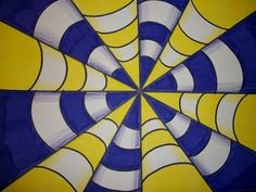 End of the year craft that's an optical illusion. Ruler, sharpie, colored markers, colored pencils, and paper.