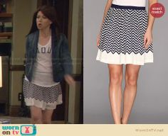 Lily's striped skirt on How I Met Your Mother.  Outfit Details: http://wornontv.net/29310/ #HIMYM