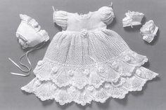 Free Crochet Christening Layette Patterns | CROCHETED CHRISTENING GOWN PATTERNS « Free Patterns
