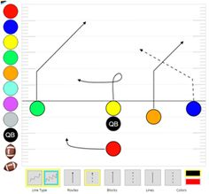5 on 5 flag football plays - Playbooks, Play Designer, Wristbands Flag Football Plays, Play Run, Designer Software, Nfl, Youth, Soccer, Deep, Create, Blue