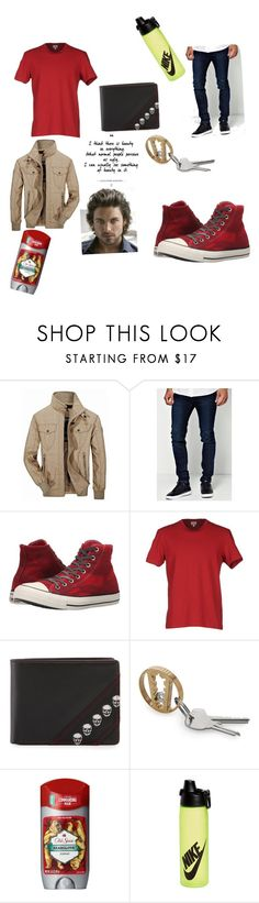 """Men fashion #2"" by stephen-james-lover ❤ liked on Polyvore featuring Jeep Rich, Boohoo, Converse, Calvin Klein Jeans, Robert Graham, Old Spice and NIKE"