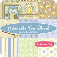 Adorable You Whoo! Fat Quarter Bundle Shelly Comiskey for Henry Glass Fabrics - Fat Quarter Shop
