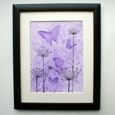 Watercolour and ink butterflies