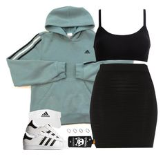 """1350 . Adidas"" by cheerstostyle ❤ liked on Polyvore featuring adidas, Jaeger, adidas Originals and ASOS"