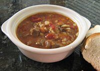 Hearty Beef Barley Soup with Vegetables