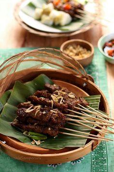 Sate Maranggi. Beef satay special from west java, Indonesia.