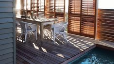 Normandy Shutters are made from the world's fastest growing tree species, our Normandy timber shutters are not only gentle to the touch, but are gentle on the environment too. Fast Growing Trees, Wood Shutters, Normandy, Deck, Patio, Outdoor Decor, Home Decor, Fastest Growing Trees, Normandie