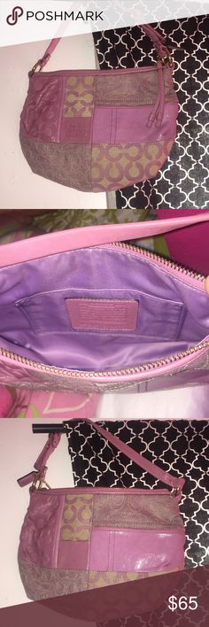 Coach purse ****in MINT condition**** Lavender and cream  Light and goes right over your shoulder  Everyday purse Coach Bags Shoulder Bags
