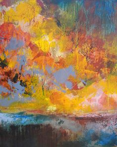 Abstract painting original art on canvas by JessicaTorrant on Etsy, $250.00