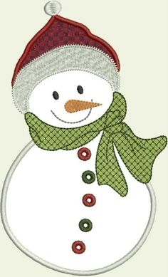 Happy Snowman Machine Embroidery Applique by DBembroideryDesigns, $3.99