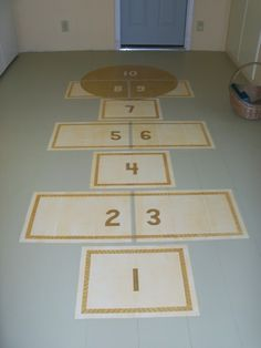 Plywood Flooring Tutorial: The cost of the floor was about $150.00. Compare that to $500 for vinyl planks, or sheet vinyl. Painted Hopscotch, Checkerboard...