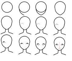 how to draw anime heads step by step for beginners
