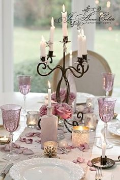 Glassware & candelabra All Things Shabby and Beautiful