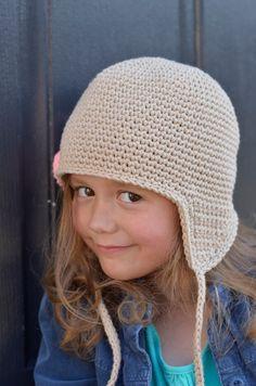 Crochet Winter Hat Crochet Earflap Hat by theButtercupBasket