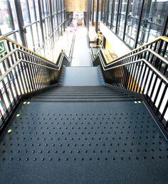Kuben Yrkesarena School Oslo, Norway / Granito flooring and stairsystem