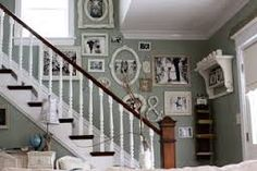 Image result for stairway photo frame arrangement