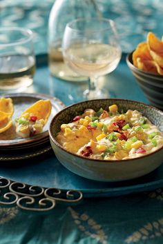 Corn and Jalapeño Dip - Dump It and Forget It Slow Cooker Recipes - Southernliving. Recipe: Corn and Jalapeño Dip Two words: crowd-pleaser. Slow Cooker Dips, Slow Cooker Appetizers, Appetizer Dips, Slow Cooker Recipes, Appetizer Recipes, Crockpot Recipes, Dinner Recipes, Cooking Recipes, Party Appetizers