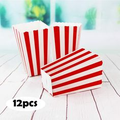 Cousin Birthday, 14th Birthday, Birthday Ideas, Candy Stripes, Red Stripes, Twilight Wedding, Carnival Themed Party, Popcorn Bags, Striped Bags