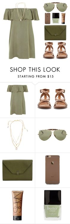 """""""JADE"""" by arditach ❤ liked on Polyvore featuring Topshop, Zara, Chan Luu, Ray-Ban, Valextra, NARS Cosmetics and Butter London"""