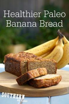 The Best Healthy Paleo Banana Bread Recipe - low fat gluten free low sugar refined sugar free low carb dairy free grain free Best Paleo Banana Bread Recipe, Paleo Bread, Paleo Baking, Paleo Sweets, Paleo Dessert, Almond Recipes, Gluten Free Recipes, Banana Recipes, Clean Eating Recipes