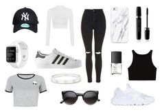 A fashion look from May 2016 featuring crop t shirt, slimming vest and long sleeve tops. Browse and shop related looks. Nars Cosmetics, Girly Things, Cartier, Marc Jacobs, Long Sleeve Tops, Topshop, Fashion Looks, Cute Outfits, Adidas