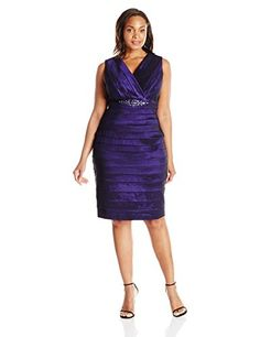 Fashion Womens Plus Size Shutter Pleat Dress www.fashionbug.us #PlusSize #FashionBug #Dress