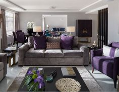 Fine Design Purple And Gray Living Room Peachy Purple And Gray Living Room  Ideas
