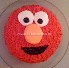 Easy Elmo Cake Idea