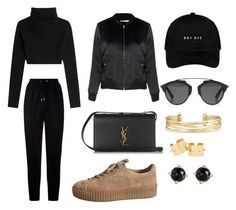 """""""Untitled #10"""" by aggelikikou ❤ liked on Polyvore featuring Givenchy, Glamorous, Yves Saint Laurent, Valentino, Christian Dior, Stella & Dot and Irene Neuwirth"""