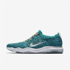bd73cf3e61f5 Nike Zoom Fearless Flyknit (Clear Jade   Legion Blue   White) Womens  Training Shoes