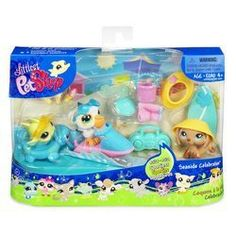 LPS Littlest Pet Shop Seaside Celebration Play Set with Pets New Hasbro Retired Collectible [Toy]