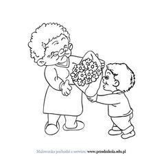 Kolorowanka Dzień Babci