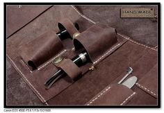 Premium Gift UNIQUE Handmade VINTAGE Tobacco Pipe Pouch Bag Hard Quality Genuine Brown COW Leather Case Fill 2 Smoking Pipes