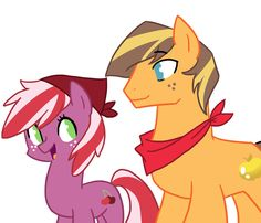 Golden Delicious and Red June by kianamai on DeviantArt My Little Pony Comic, My Little Pony Drawing, Kilala97, Mlp Characters, Little Poni, Mlp Fan Art, Nerd Humor, Cartoon Shows, My Little Pony Friendship