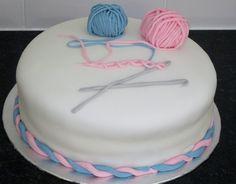 Crochet theme cake made for daughter's Birthday.