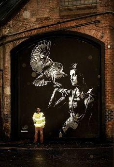 Owl streetart. TankPetrol, unique street art, great street artists, free walls…