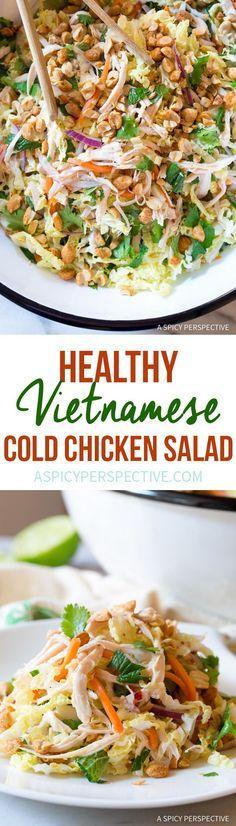 Vibrant Vietnamese Cold Chicken Salad (Goi Ga) #healthy #lowcarb #paleo via /spicyperspectiv/