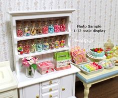 Miniature Candy Cane Mint Candies Sweets Dollhouse by BEADSPAGE
