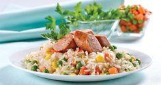 Receta arroz salteado con chorizo.