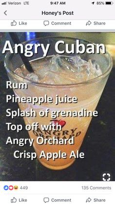 "Should be called the ""angry hurricane"" Drinks Cocktails, Cocktail Drinks, Cocktail Recipes, Martinis, Liquor Drinks, Alcoholic Drinks, Beverages, Refreshing Drinks, Summer Drinks"